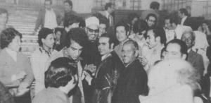 أبوزيد وسط الحضور مناقشة الماجستير 1976