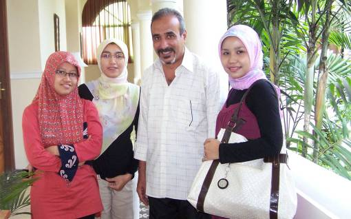 مبروك وطالبات الدورة من اندونيسيا